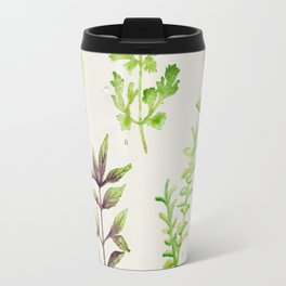 Watercolor Herbs Travel Mug