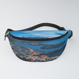Queenstown City Lights from Skyline, New Zealand Fanny Pack