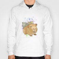 pigs Hoodies featuring Guinea Pigs by Adamzworld