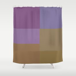 Purple and Gold Squares Shower Curtain