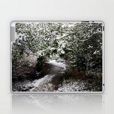 Snowy Path in The Trees Laptop & iPad Skin
