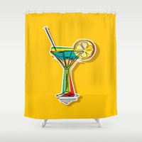 cocktail Shower Curtains featuring Cocktail by Rceeh