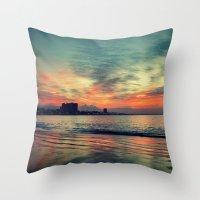 karu kara Throw Pillows featuring In Beetween Night & Day by RichCaspian