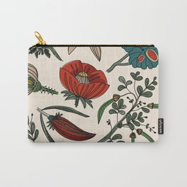 Pattern from field flowers and herbs Carry-All Pouch