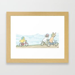 Lily's Training Wheels Framed Art Print
