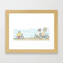 Lily's Training Wheels Framed Art Print