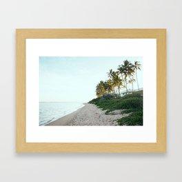Kahala Beach Framed Art Print