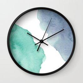 Watercolor Drops Wall Clock