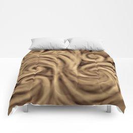 bohemian burnt sienna swirl pattern Comforters