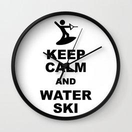 Waterskiing wakeboarding Wall Clock