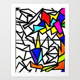 Mosaic burd Art Print