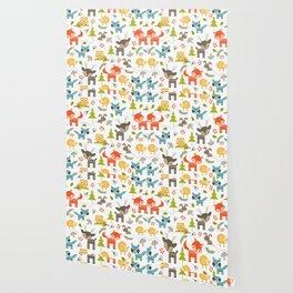 Woodland Animals Wallpaper