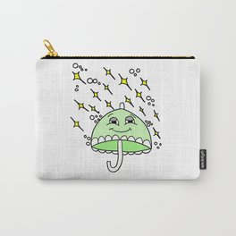 Hand drawn drawing of a smiling umbrella Carry-All Pouch