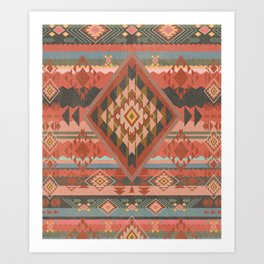 Boho Graphic Moroccan Oriental Modern Pattern Art Design - 2 Art Print