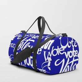 Vote! Blue Duffle Bag