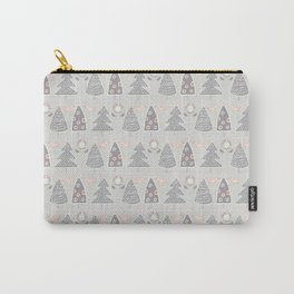 Modern Christmas Trees Doodle Carry-All Pouch