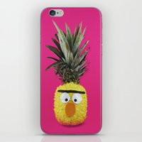 sesame street iPhone & iPod Skins featuring Bert - Sesame Street Pineapple by SandraSuarez