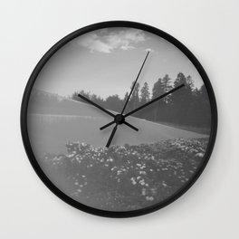 Jardin voilé Wall Clock