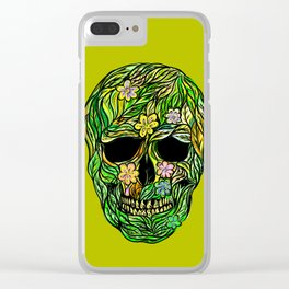 Skull Nature Clear iPhone Case