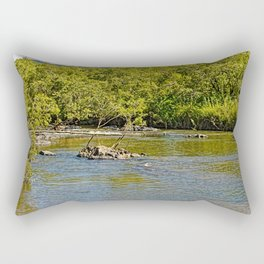 Beautiful river in the tropics Rectangular Pillow