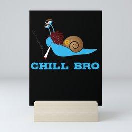 Lustige Schnecke kifft Design - Stay High THC Marihuana süß  Mini Art Print