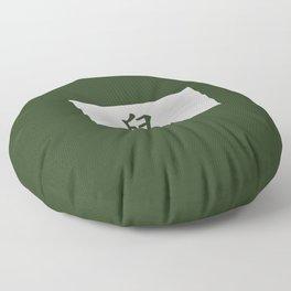 Chinese zodiac sign Rat green Floor Pillow