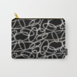 Glowing White Ovals Carry-All Pouch
