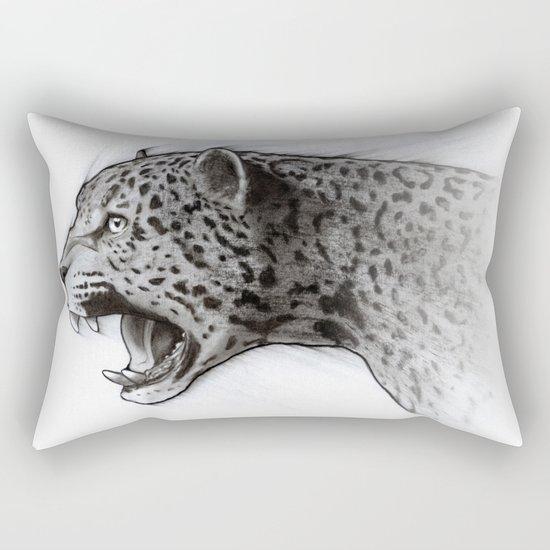 Jaguar Charcoal Rectangular Pillow