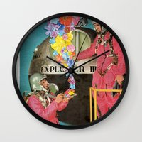 hologram Wall Clocks featuring Hologram by Ben Giles