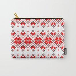 Wellspring - Star Alatyr - Ethno Ukrainian Traditional Pattern - Slavic Symbol Carry-All Pouch