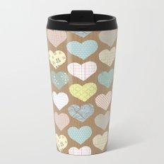 hearts pattern Metal Travel Mug