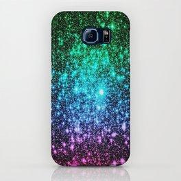 glitter Cool Tone Ombre (green blue purple pink) iPhone Case