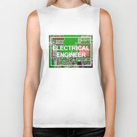 engineer Biker Tanks featuring Electrical Engineer by EEShirts
