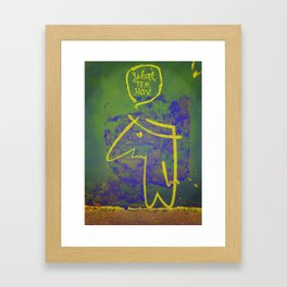 wth? man Framed Art Print