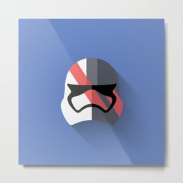 Captain Phasma Flat Design Metal Print