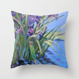 Sun Day—Iris Throw Pillow