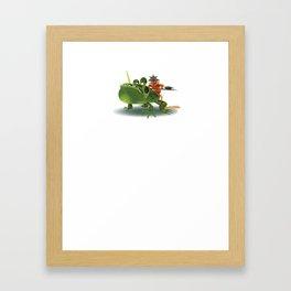Tiny Monkey Warrior Framed Art Print