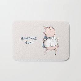 Hamsome Guy! Bath Mat