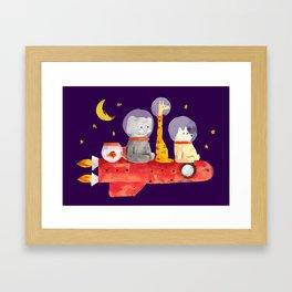 Let's All Go To Mars Framed Art Print