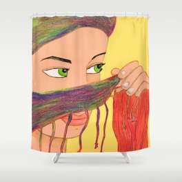 Woman Shower Curtain