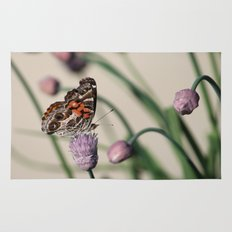 Butterfly and Chives Rug