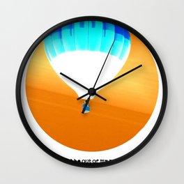 Cold Hot Air Balloon 2 Wall Clock