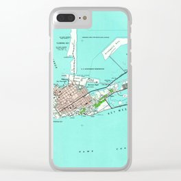 Vintage Map of Key West Florida (1962) Clear iPhone Case