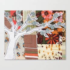 Spring Tree in a Patchwork Field Canvas Print