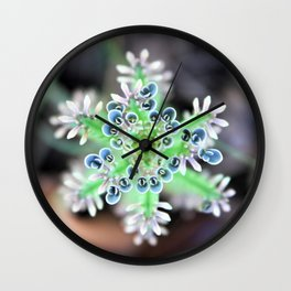 A Succulent and her Babies Wall Clock