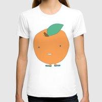 orange pattern T-shirts featuring Orange by Maaike Ankum