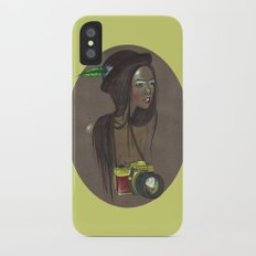 Girl with Camera Slim Case iPhone X