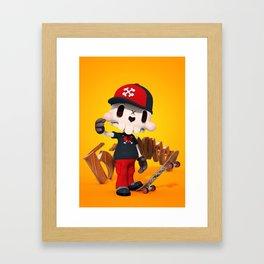 Skeleton Boy Framed Art Print
