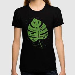 Linocut Leaf T-shirt