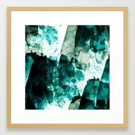 emerald & moss green Framed Art Print